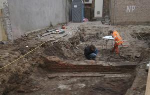 Excavation of the Franciscan monastery in 2008